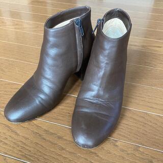 ファビオルスコーニ(FABIO RUSCONI)のFABIO RUSUCONI ショートブーツ レザーブーツ ブラウン イタリア製(ブーツ)