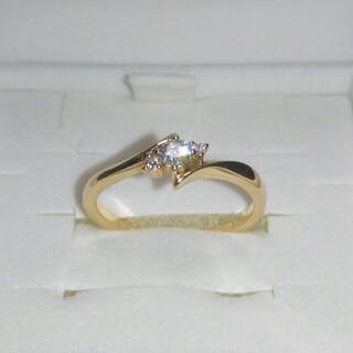 4℃ - 4℃ K18 ピンクゴールド ダイヤモンドリング 指輪 8号(6~10号変更可)