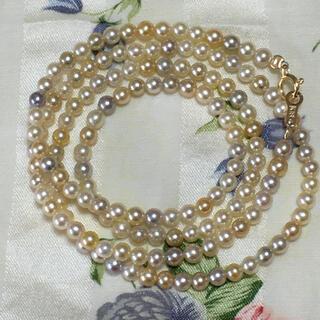ベビーパール  ナチュラルカラー あこや真珠 k18  パールネックレス