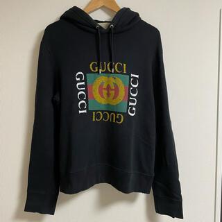 Gucci - GUCCI グッチ GG ロゴ パーカー 黒 Sサイズ