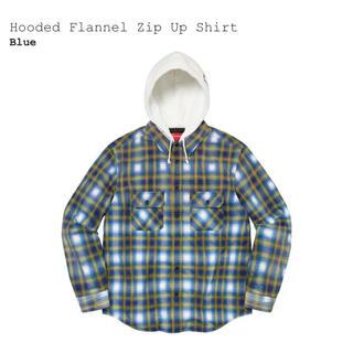 Supreme - 【新品】Supreme Hooded Flannel Zip Up Shirt