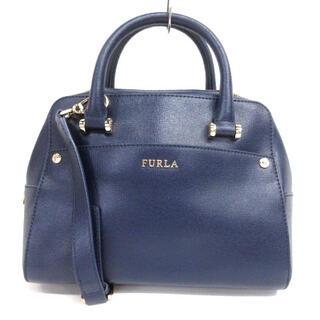 フルラ(Furla)のフルラ FURLA 2way ハンド バッグ ショルダー ネイビー(ショルダーバッグ)