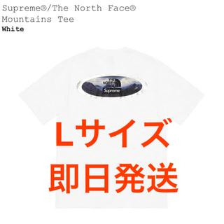Supreme - シュプリーム ノースフェイス マウンテン Tee  白 Lサイズ