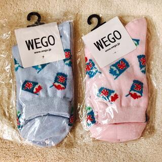 ウィゴー(WEGO)のWEGO かき氷 ソックス 新品  2足 セット(ソックス)