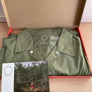 山と道  UL Short Sleeve Shirt light olive L