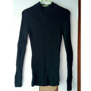 ムジルシリョウヒン(MUJI (無印良品))の無印良品 ワイドリブ編みハイネックセーターブランド M ウール100%(ニット/セーター)