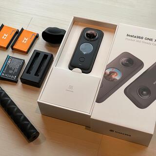 GoPro - Insta360 ONE X2 美品 追加バッテリー、自撮り棒付き