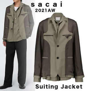 sacai - サカイ sacai suiting jacket カーキ サイズ2(M相当)