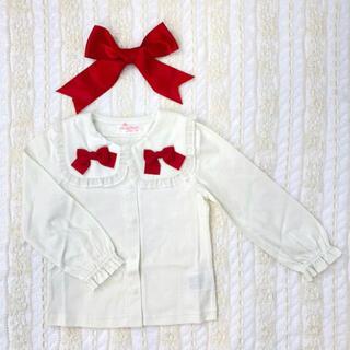 Shirley Temple - 新品 シャーリーテンプル ブラウス リボン 100cm 白 長袖