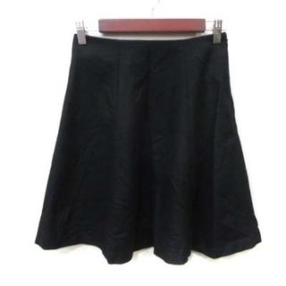 ナチュラルビューティーベーシック(NATURAL BEAUTY BASIC)のナチュラルビューティーベーシック フレアスカート ひざ丈 ウール S ブラック(ひざ丈スカート)