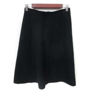 イエナスローブ(IENA SLOBE)のイエナ スローブ ニットスカート フレア ミモレ ロング 黒 ブラック /YI(ロングスカート)