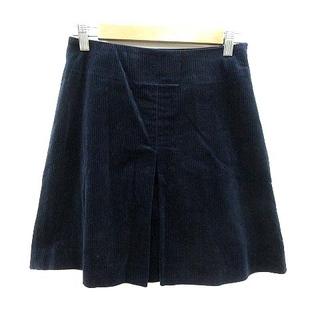 イエナ(IENA)のイエナ IENA 台形スカート ミニ ワンボックス ベルベット 38 紺(その他)
