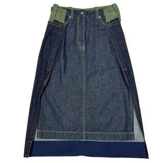 サカイ(sacai)のSACAI 20AW デニム ミリタリー スカート サイズ1 インディゴ(その他)