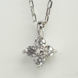 ヨンドシー(4℃)のm○g 4℃☆ヨンドシー 可愛いお花K10WG天然ダイヤモンドネックレス(ネックレス)