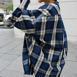 マチャット スタンドカラーチェックシャツ