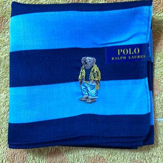 ポロラルフローレン(POLO RALPH LAUREN)のポロラルフローレン ハンカチ ベア刺繍nb(ハンカチ/ポケットチーフ)