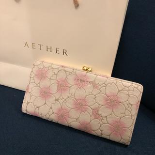 AETHER 桜 サクラ柄 がま口財布