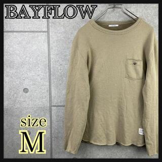 ベイフロー(BAYFLOW)のBAYFLOW ベイフロー トレーナー ベージュ 胸ポケ メンズ レディース(スウェット)