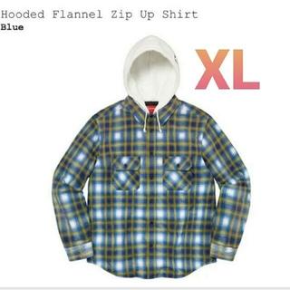 シュプリーム(Supreme)のSupreme Hooded Flannel Zip Up Shirt XL(パーカー)