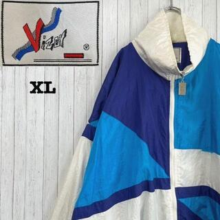VIZOR ナイロンジャケット ジップアップ マルチカラー ビッグサイズ XL