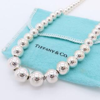 Tiffany & Co. - 希少 美品 ティファニー グラジュエイテッド ボール ネックレス YD44