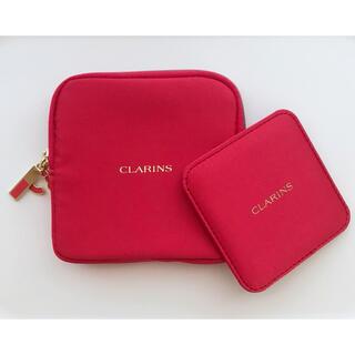 クラランス(CLARINS)の【未使用】CLARINS クラランス ポーチ リップケース ミラー付き[非売品](ポーチ)