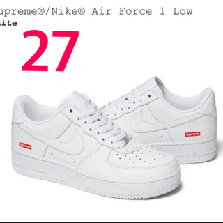 Supreme - Supreme NIKE AIR FORCE 1 LOW  白 27