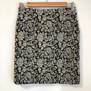 ナチュラルビューティーベーシック(NATURAL BEAUTY BASIC)のNBB ジャガード柄スカート M(ひざ丈スカート)