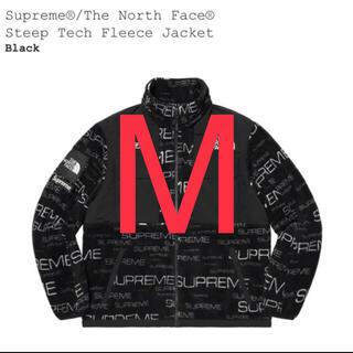 Supreme - 送料込 supreme north face fleece jacket 黒 M