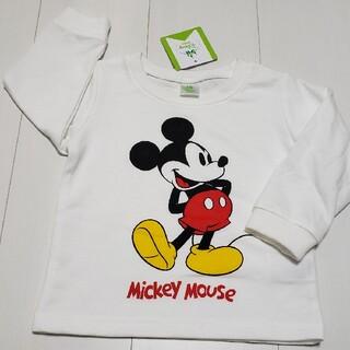 ミッキーマウス(ミッキーマウス)の新品タグ付きミッキーマウス薄手トレーナー90センチ➀白ディズニー(Tシャツ/カットソー)