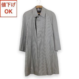 ランバン(LANVIN)の【新品同様】ランバン LANVIN ステンカラー コート M メンズ 絹 シルク(ステンカラーコート)