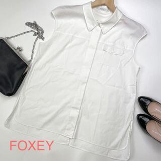FOXEY - FOXEY フォクシー フレンチスリーブブラウス バックスリット入り 3415