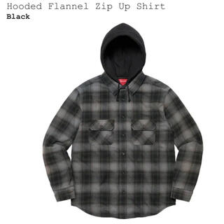 Supreme - Hooded Flannel Zip Up Shirt