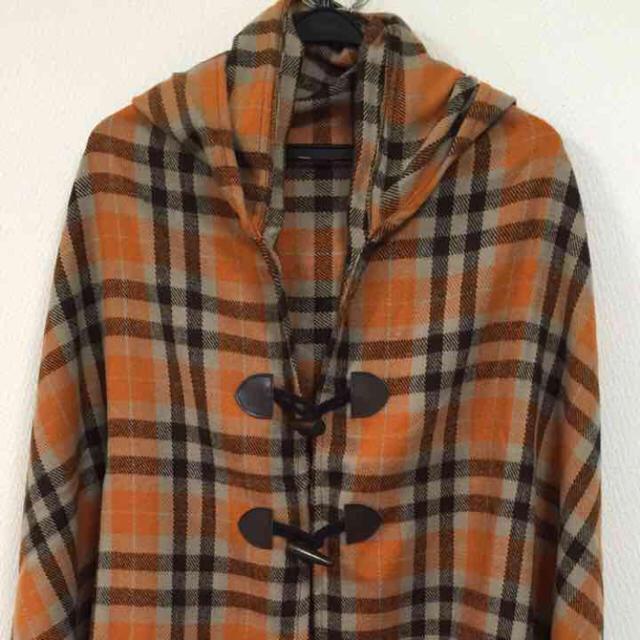 秋色 フード付きポンチョ レディースのジャケット/アウター(ポンチョ)の商品写真