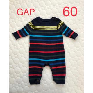 ベビーギャップ(babyGAP)のBaby GAP ニットカバーオール 50-60(カバーオール)