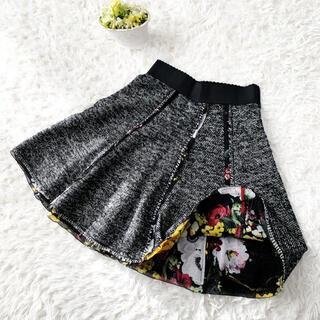 DOLCE&GABBANA - 美品 DOLCE&GABBANAドルガバ フレアライン スカーフ 花柄 スカート