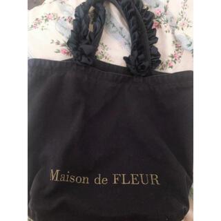 Maison de FLEUR - 美品 メゾンドフルール トートバッグ M ネイビー