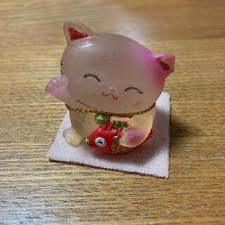 【10/25までの出品】招き猫 ピンク