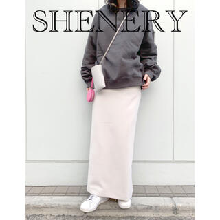 IENA - SHENERY シーナリー ロングスカート ストレッチ ベージュ 38