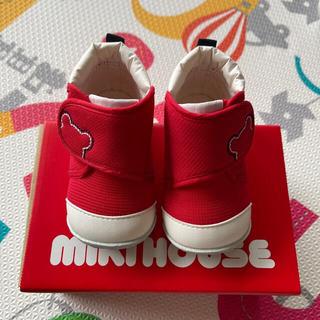 ミキハウス(mikihouse)の【美品】ミキハウス ファーストシューズ 12センチ ファミリア12cm靴付き(スニーカー)