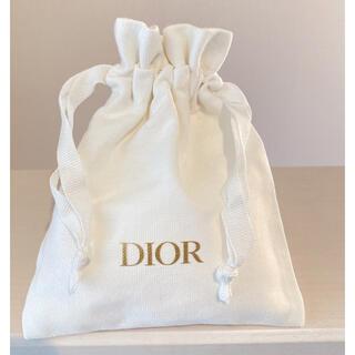 Dior - Dior❤️持ち歩きに便利なmini巾着ポーチ/ホワイト