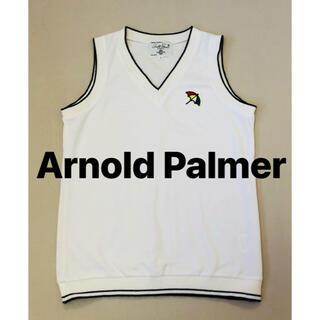 アーノルドパーマー(Arnold Palmer)のアーノルドパーマー BIGロゴ ニットベスト 美品(ニット/セーター)