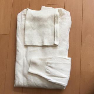 ムジルシリョウヒン(MUJI (無印良品))のタートルネックウールニット アイボリーL(ニット/セーター)