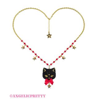 Angelic Pretty - Milk Cat ネックレス 黒×赤