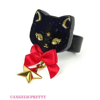 アンジェリックプリティー(Angelic Pretty)のアンジェリックプリティ Milk Cat リング 黒×赤(リング(指輪))