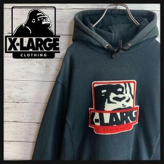 エクストララージ(XLARGE)の【人気デザイン】エクストララージ パイル地センタービッグロゴ刺繍入りパーカー(パーカー)