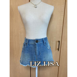 リズリサ(LIZ LISA)の350円商品3枚で1,000円!未着用 リズリサ デニムスカート(ミニスカート)