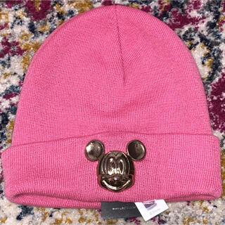 Disney - Disney ピンクのミッキーニット帽 タグ付き新品