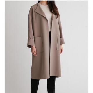 Mila Owen - ミラオーウェン ラペルカラーボックス袖コート