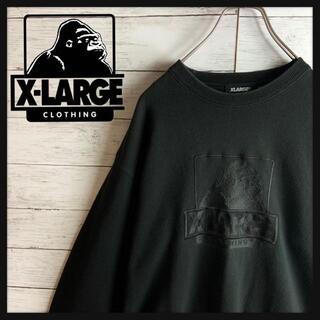 エクストララージ(XLARGE)の【希少デザイン】エクストララージ ビッグロゴ刺繍入りスウェット 入手困難(スウェット)